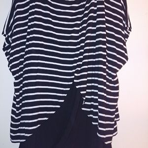 Black white striped cable gauge top